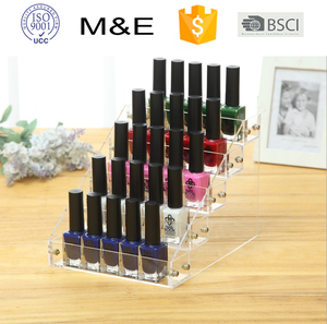 2018 acrylic nail polish racks display in factory direct supply