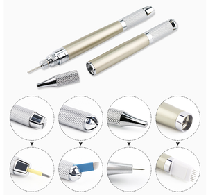 3 Hands Multifunctional Metal Handle Microblading Pen For Permanent Make up,Manual Eyebrow Tattoo Pen Wholesale