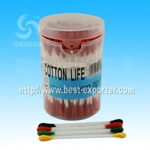 cotton bud in PP can color cotton buds