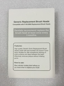 Electric toothbrush head replacement For Philips P-HX6064 black