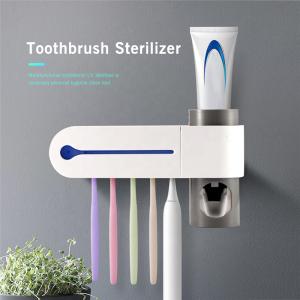 Electric Wall Mounted Toothpaste Dispenser UV Toothbrush Sterilizer Muli-function UV Ultraviolet Light Toothbrush Holder Case
