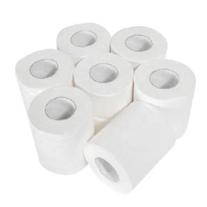 Factory  toilet paper packaging paper towel recycled pulp embossing toilet roll OEM