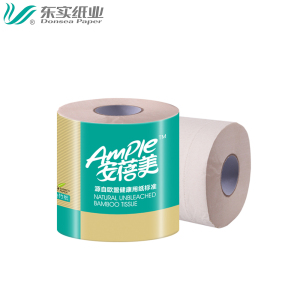 Free samples most popular high standard wholesale bamboo pulp unbleached bathroom tissue toilet paper toilet paper tissue