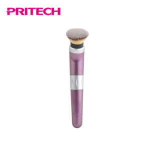 PRITECH Custom Electrical Rotating ABS Handle  Private Label  Makeup Brushes