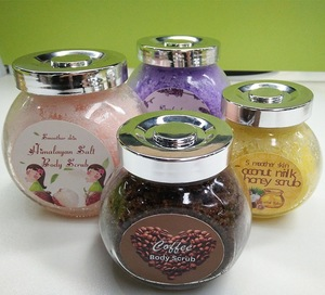 Private label coffee bean body scrub for skin care
