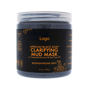 Private Label Shea Moisture African Black Soap Clarifying Mud Mask