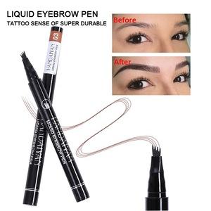 Waterproof Fork tip Eyebrow Tattoo Pen 4 Head Fine Sketch Liquid  Eyebrow Pencil