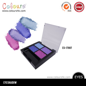 2017 new product OEM cosmetic 4 color eyeshadow palette makeup