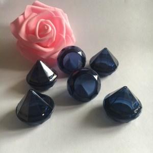 5g blue diamond shaped cream jar,eye cream container, Conical glitter powder jar