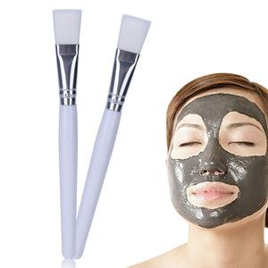 Custom logo DIY mask applicator makeup tools white color soft nylon hair facial mask brush for cosmetic