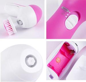 Facial Cleansing Brush 5 in 1 OEM Deep Face Exfoliating Electric Kit Set Exfoliating Face Brush