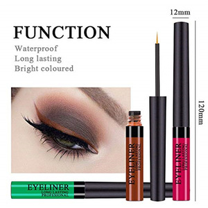 High Pigmented Colorful Brighten Pigments Smudgeproof Long Lasting Matte Liquid Eyeliner