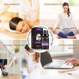 Natural Essential Oils ,100% Pure Aromatherapy Diffuser Oils with Lavender, Tea Tree, Eucalyptus, Lemon