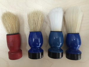 plastic head shaving brush