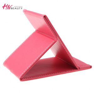 Wholesale folding pu leather makeup tool beauty mirror cosmetic accessories makeup mirror