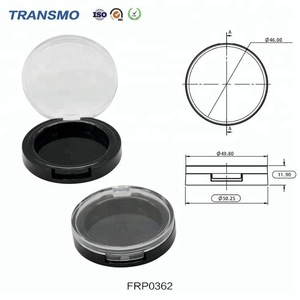 Wholesale Makeup Use Powder Packaging Cosmetics Empty Transparent Round Custom Compact Powder Case Blush Container