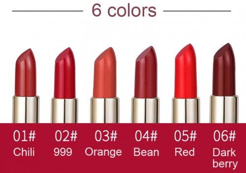6 colors best-in-class selection of lipsticks