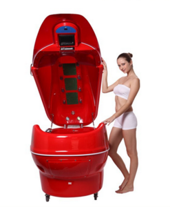 2015 best quality ozone sauna spa capsule for sale Lying model with bathtue