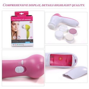 5 IN 1 multifunction electric cleaner face facial cleaning brush for skin care