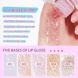 Custom Moisturize Shiny Makeup Colorful DIY Lipgloss Clear Glitter Lip Gloss Base