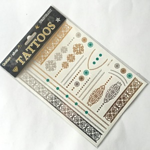 Gold Leaf Tattoos Sticker Body Tattoo Sticker Gold Tattoo Sticker