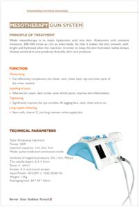MSLMG01 Skin rejuvenation face lift water mesotherapy gun /mesogun for skin care