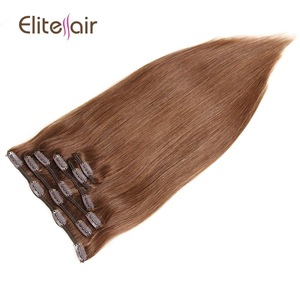 New coming finest full head brown clip in human hair extensions for sale