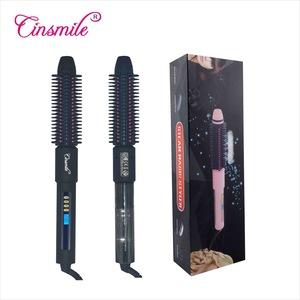 OEM ODM Wooden Hairbrush no heat rotating hair curler hair straightener comb
