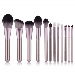 On Sale MSQ 12pcs professional makeup brushes private label wholesale makeup brushes with black case