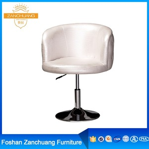 Stainless steel white beauty barber upholstery salon equipment barber chair