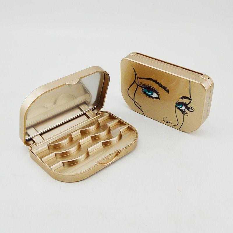 False Eyelashes Container Custom Lash Packaging For 3 Pack
