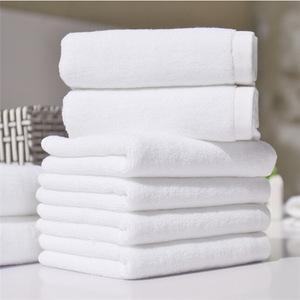 100% Cotton 16s White Towel Sets Wholesale Hotel Bathroom Towel Supplies