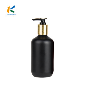 300ml best design empty black biodegradable hair plastic shampoo bottle with lotion pump