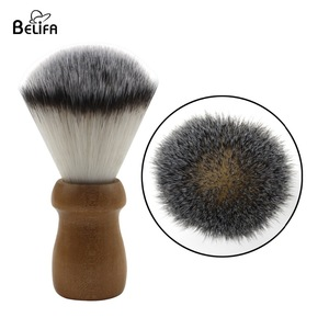 Belifa private label wood vegan synthetic shaving brush