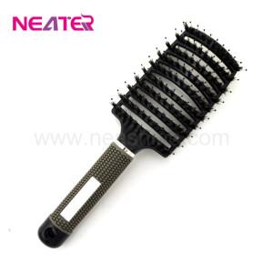 Black detangling nylon pins and 100% boar bristle hair brush
