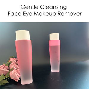 Hot selling Pink Bottle Deep Clear Vegan Makeup Remover