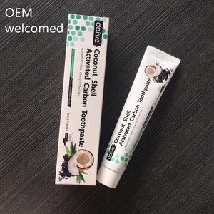 NEW ARRIVE OEM new coconut shell charcoal whitening toothpaste charcoal toothpaste oem