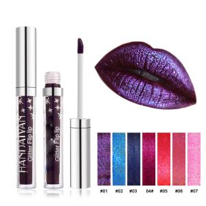 Professional Shimmer Glitter Flip Lip Gloss, Private Label Long Lasting Non-stick Cup Shinny Liquid Lipstick