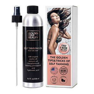Self Tanner Organic and Natural Ingredients Sunless Tanning Lotion and Best Bronzer Buildable Light Medium or Dark Tan for Body