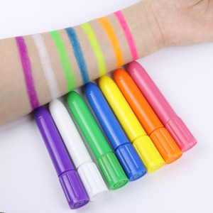 Water Based twist uv neon Face body Paint Crayons face painting sticks glow in the dark paint for kids