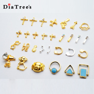 Wholesale Cheap Gold Round Nail Design Metal Nail Jewelry Nail Art