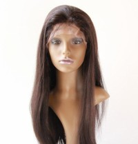 Straight remy lace front wig
