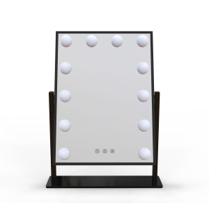 Amazon hot sale 12 x 3W Dimmable LED Bulbs hollywood Mirror lighted vanity makeup mirror