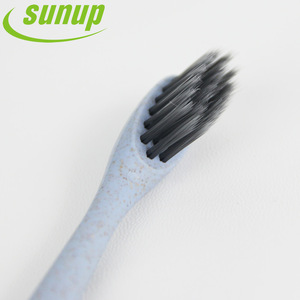 Eco-Friendly & Wholesale Wheat Crop Straw Toothbrush with Bamboo Charcoal Brush Bristle