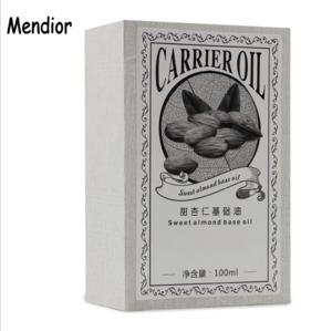 Mendior 2018 OEM organic sweet almond oil 100% Pure Natural sweet almond carrier Oil female body massage oil