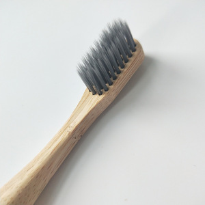 natural tooth brush make with bamboo wooden handle for adult bamboo toothbrush