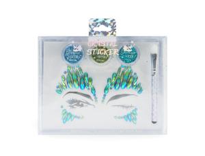Newest wholesale cosmetic women beauty crystal sticker glitter set