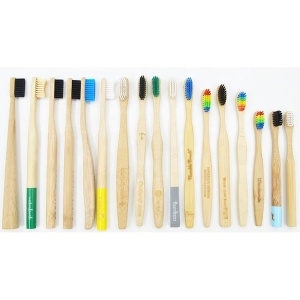 Professional Factory Production Wholesale OEM Custom Laser Engraving Logo Eco Friendly Natural Bamboo Toothbrush