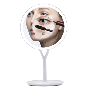 Round cosmetic mirrors Selfie vanity led makeup mirror with lights