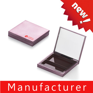 Shantou manufacturer pink square magnetic empty eye shadow eyeshadow makeup compact case